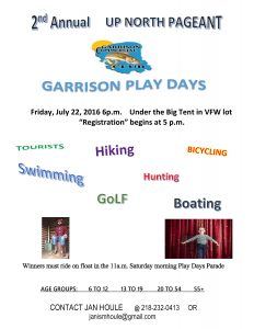 GARRISON PLAY DAYS PAGEANT FLYER sunday 19th (1)-page-0